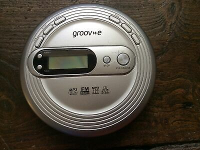 £14.90 • Buy Groove Retro Personal CD Player With FM Radio Mp3 Playback Silver Discman