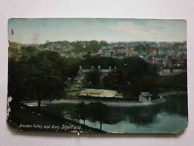 £3 • Buy Crookes Valley And Dam, Sheffield, Yorkshire, Old Postcard