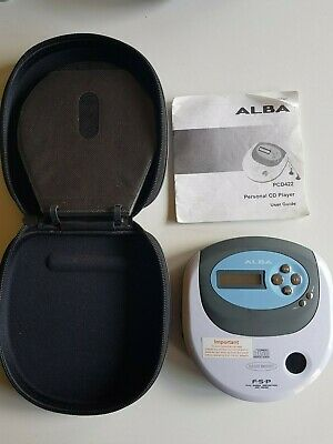 £13.99 • Buy Alba Portable Personal Cd Player Pcd With Travel Case
