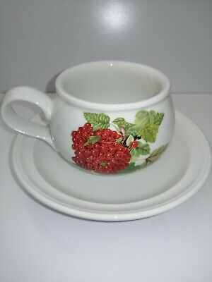 £9.99 • Buy Portmeirion Pomona 3.25 Inch Diameter Tea Cup And Saucer The Red Currant