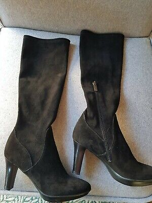 £49 • Buy Russell & Bromley *aquatalia* Black Suede Boots Sx 36 New £££