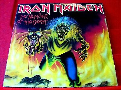 £9.99 • Buy Iron Maiden The Number Of The Beast 7  PC RED VINYL UK ORIG 1982 EMI 5287