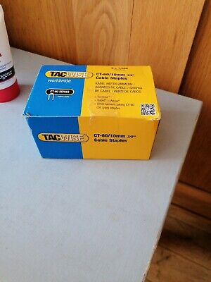 £5 • Buy Tacwise CT-60 10mm (3/8 ) Cable Staples For Staple Tacker Gun Box Of 5000 (0354)