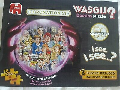 £9.99 • Buy Jigsaw Wasgij. 2 X 1000 Pieces. Coronation Street Return To The Rovers. Complete
