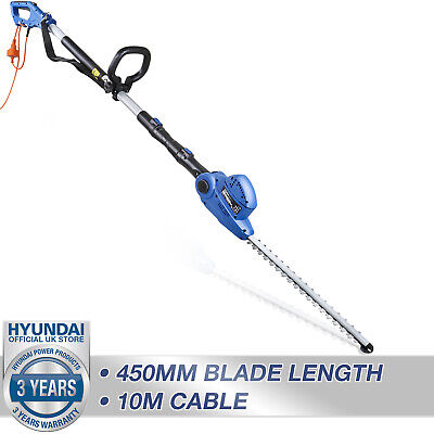 £86.99 • Buy Hedge Trimmer Electric Pruner Corded 2.5m Long Reach Pole 10m Cable HYUNDAI