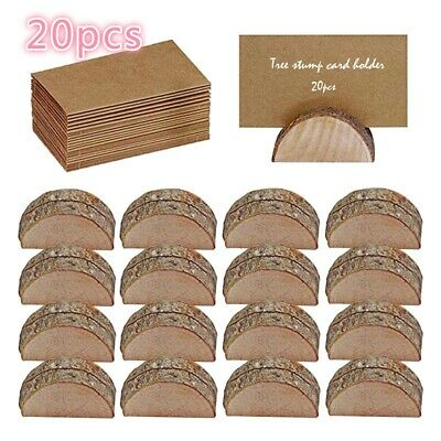 £13.45 • Buy 20PCS Wooden Table Card Holder Stand Number Place Name Menu Party Wedding Decor