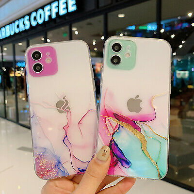 AU7.65 • Buy For IPhone 12 Pro Max 11 XS XR 7+ 8 Clear Marble Soft TPU Bumper Slim Case Cover