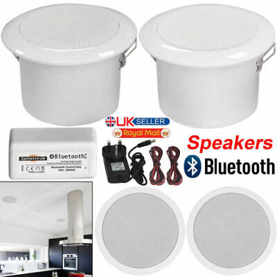 £29.99 • Buy Bathroom Kitchen Ceiling Speakers And Wireless Bluetooth Amplifier System