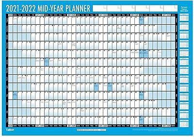 £5.95 • Buy A2 2021-2022 Academic Wall Planner Mid Year Holiday School Planner Pen & Dots