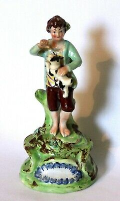 £85 • Buy Staffordshire Figure Of A Boy With A Dog