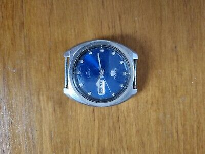 £22.78 • Buy Vintage Blue Faced Seiko 5 Automatic Mens Watch