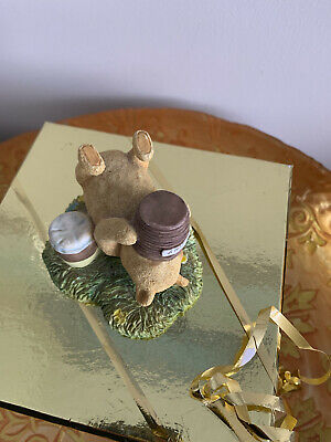 £10 • Buy WINNIE THE POOH ORNAMENT A0102 Pooh Lying Down With Hunny Jar