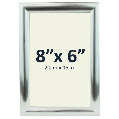 £3.98 • Buy 8  X 6  SILVER PHOTO FRAME Small Picture Portrait Wood Display Stand 20CM X 15CM
