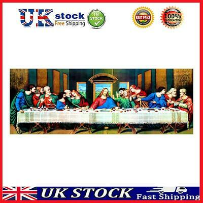 £10.50 • Buy 5D DIY Full Drill Diamond Painting The Last Supper Cross Stitch Embroidery *UK