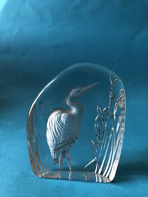 £6 • Buy Heron - Wedgwood Glass Paperweight - Inscribed On Base