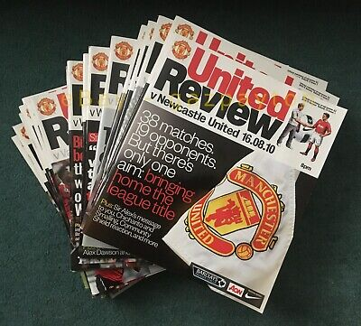 £31.99 • Buy Manchester United Football Programmes 2010-2011 - (missing X4 See Below)