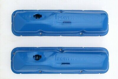 $199 • Buy Power By Ford Valve Covers Blue FE 352 360 390 406 427 428 OEM Factory