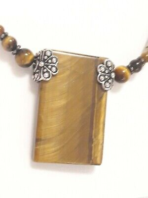 £3.99 • Buy  Tigers Eye Necklace And Brooch