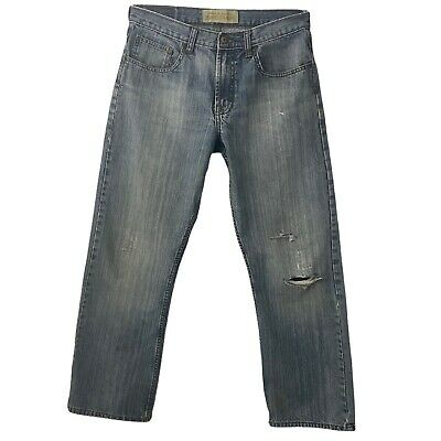 $23.31 • Buy Wrangler Mens Jeans Relaxed Straight Distressed 32 Waist 29 Inseam