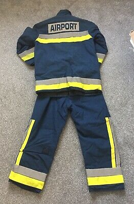 £65 • Buy Firefighter Kit Fire Kit Gatwick Airport Firefighter Turnout Gear Tunic Trousers