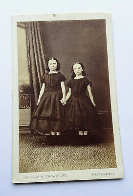 £3.29 • Buy Cdv Carte De Visite Of Two Sisters Holding Hands, By Bullock Of Macclesfield