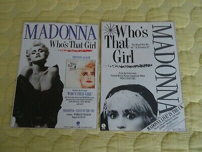 £3.99 • Buy Madonna Uk 2 Adverts Who's That Girl Single Album And Uk Tour 1987 Rare Wembley