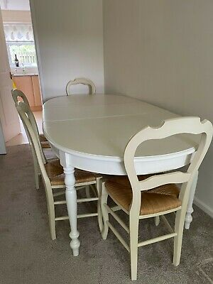 £0.01 • Buy Extending White Feature Dinning Table And Four Chairs