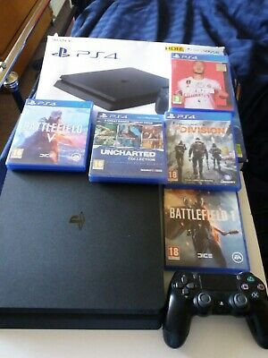 AU282.65 • Buy Ps4 Console Slim  500GB , 1 Controller & Games And Cables