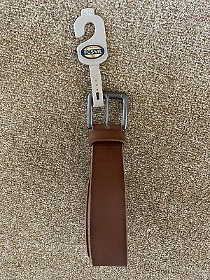 $25.02 • Buy Mens Fossil Thaxter Leather Brown Belt Size 32