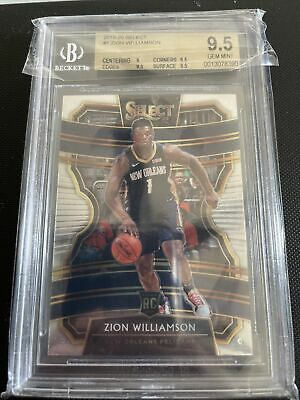 $20 • Buy 2019-20 Panini Select #1 Zion Williamson Pelicans RC Rookie BGS 9.5
