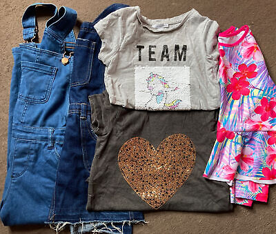 £3 • Buy Small Bundle Of Girls Clothes Age 7-8 Dungarees Etc