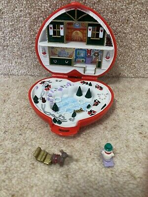 £20 • Buy Vintage 1989 Polly Pocket Christmas Red Compact With Reindeer And Snowman Figure
