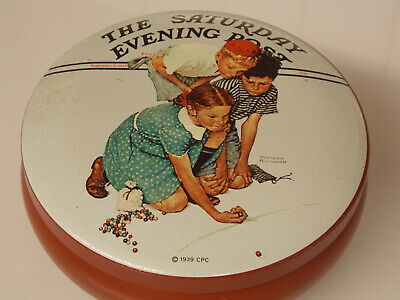 £9.99 • Buy  A 1939 Saturday Evening Post Sweet Tin Marbles Champion By Norman Rockwell.
