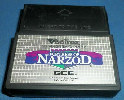 £35.25 • Buy VECTREX FORTRESS OF NARZOD Game Only Very Good Condition 1982