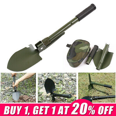 $11.22 • Buy Army Military Folding Spade Shovel Pick Axe 4 In 1 Carbon Steel Camping Tool WM