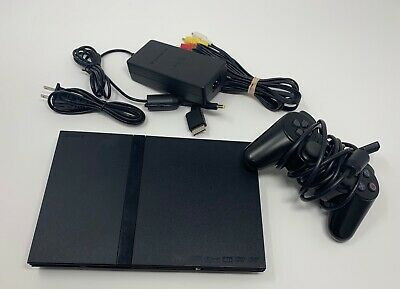 $ CDN89.99 • Buy Sony Playstation 2 Slim Black Console SCPH-77001 PS2 - TESTED