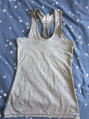 £1.99 • Buy Ladies Racer Back Workout/Exercise Top, Grey Marl, Size Small UK8
