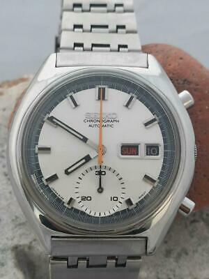 $ CDN815.02 • Buy Vintage Seiko Chronograph 6139-8030 Automatic Day/Date White Dial Mens Watch