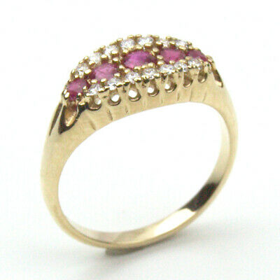 £0.99 • Buy 9ct Gold Ruby And Diamond Ring UK Hallmarked