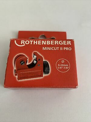 £8.29 • Buy Rothenberger Minicut No.2 Pro Plumbers Copper Pipe Tube Cutter (3-22mm)- 70402