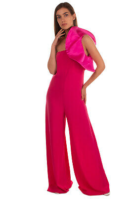 AU1.87 • Buy RRP€235 ANIYE BY Jumpsuit Size XS Satin Insert One Shoulder Made In Italy