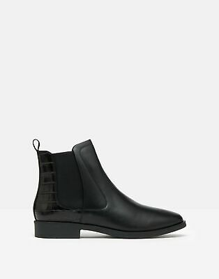 £16 • Buy Joules Womens Chelmsford Chelsea Boots - Black Croc - Adult 6