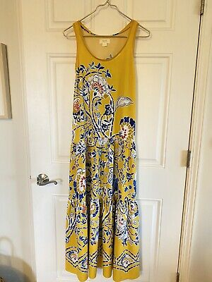 $ CDN43.89 • Buy Maeve For Anthropologie Yellow Floral XS Maxi Sleeveless Dress Gorgeous Flowy