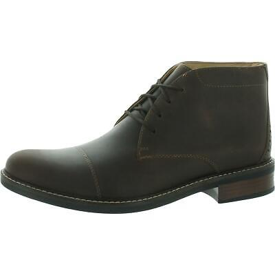 $53.99 • Buy Clarks Mens Maxton Mid Leather Lace Up Dress Chukka Boots Shoes BHFO 6744