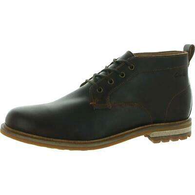 $76.49 • Buy Clarks Mens Foxwell Mid Leather Lace Up Dress Chukka Boots Shoes BHFO 6728