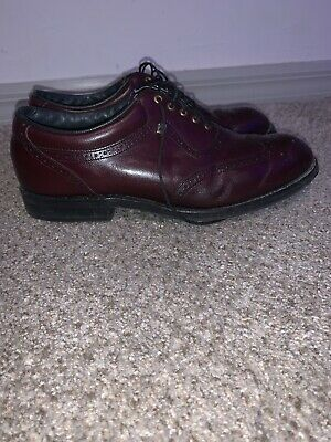 $25 • Buy Vintage Footjoy Golf Shoes 56931 Classic Leather Wing Tip Burgundy 8.5