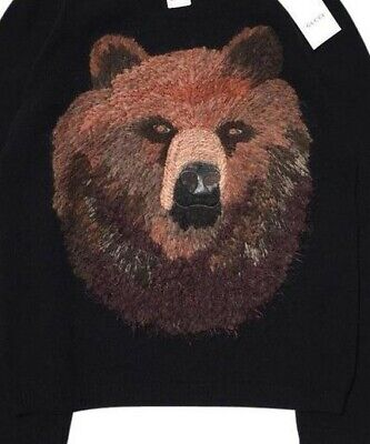 $750 • Buy Gucci Black Wool Bear Embroidered Crewneck Men's Sweater L NWT Retail's $1,760