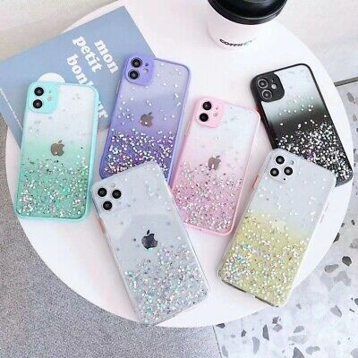 AU5.99 • Buy Cute Bling Glitter Clear Case Girls Cover For IPhone 11 Pro Max 8 Plus XR XS Max