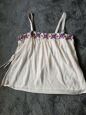 £4 • Buy Monsoon Size L Cool Hippie Style Top