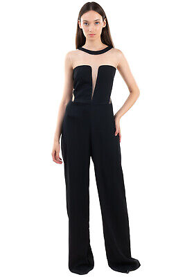 AU37.68 • Buy RRP €225 TA MO Jumpsuit Size 46 / L Extra Long Illusion Neck Made In Italy